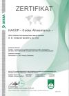 HACCP Zertifikat 2020-2023