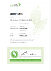 Certificate carbon neutral company 2021