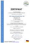 Zertifikat für gesicherte Nachhaltigkeit 2021
