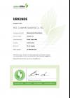 Urkunde klimaneutrales Unternehmen 2021